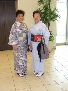 Okinawa - Tenue traditionnelle Komon et Tsukesage